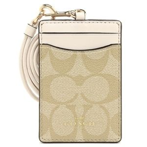 F63274 ID LANYARD CASE IN SIGNATURE COATED CANVAS